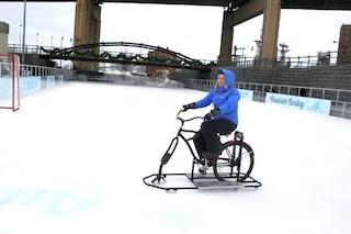 Ice Bike: ecco la prima bici che pattina sul ghiaccio