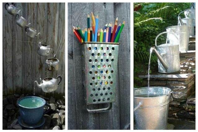 20 modi originali per riutilizzare i vecchi utensili da cucina for Oggetti di cucina