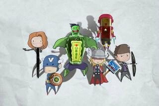 Un mondo Marvel con gli oggetti d'uso comune