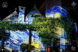 Alberobello: i trulli si colorano con Van Gogh