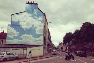 Street art: quando gli edifici si dipingono di cielo