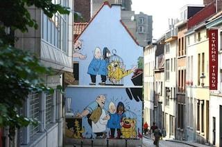 Bruxelles: la Via dei Fumetti inonda la città di colori