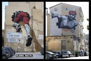 Il tunnel del Mediterraneo: la street art che unisce Malta e Italia