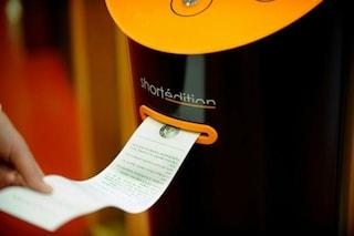 Piacevoli attese: ecco il primo distributore automatico di storie