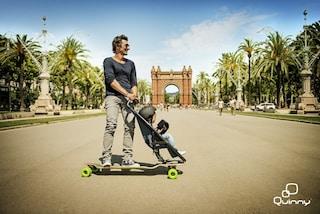 Passeggino e skate 2 in 1: ecco il modo più divertente per girare col proprio bambino