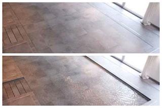 Hydrofloor: il primo pavimento di casa che diventa una piscina