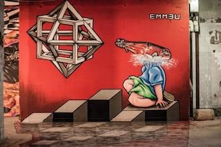 Roma: l'edificio abbandonato diventa una galleria di street art temporanea