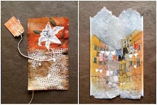 Tutto si recupera: quando le bustine di tè diventano opere d'arte