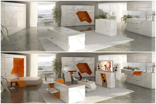 Tutta la casa in una scatola ecco la nuova tendenza dei for Arredamento salvaspazio mobili multifunzionali
