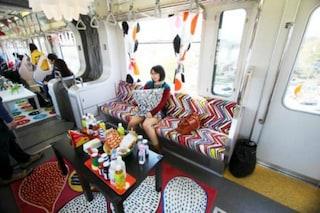 Ikea arreda i treni in Giappone: viaggiare su rotaie come sul divano di casa