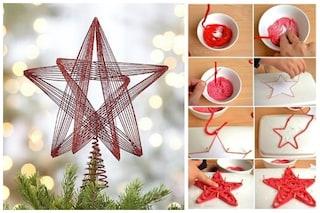 Come fare un puntale a stella per l 39 albero di natale con for Creare oggetti utili fai da te