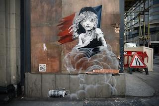 Banksy per i rifugiati: ecco il nuovo murale a Londra del famoso street artist