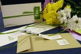 Matrimoni ecologici: ecco le partecipazioni che diventano fiori