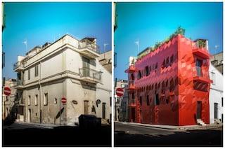 Prima e dopo: ecco come trasformare un palazzo fatiscente in una scultura