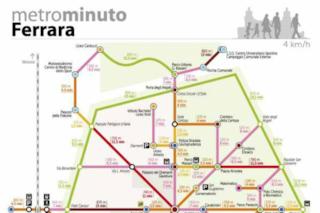 Sembra una mappa della metro ma serve a spostarsi a piedi: l'idea geniale parte da Ferrara