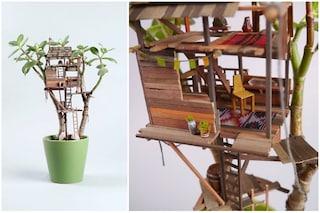 Le case sulle piante: ecco le incredibili miniature di Jedediah Voltz