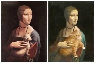 FatCatArt: come sarebbero le opere d'arte aggiungendo un gatto in sovrappeso?