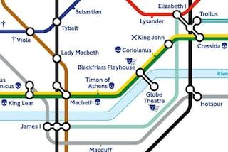 Londra: una nuova mappa della metropolitana in onore di Shakespeare