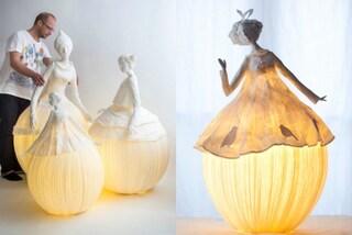 L'eleganza della luce: ecco come creare lampade con la cartapesta
