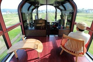 Tutte finestre al posto delle pareti: ecco il nuovo treno panoramico del Giappone