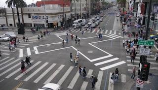 Los Angeles, ecco il disegno che rende sicuro anche l'incrocio più pericoloso