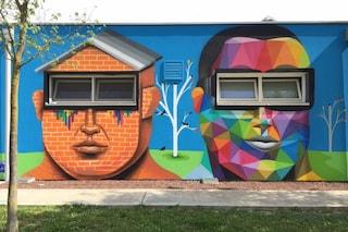 Arcugnano, l'anonima scuola diventa un capolavoro di street art