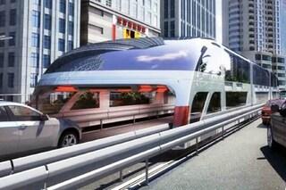 Addio traffico: ecco il primo autobus che passa sopra le auto