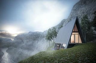 Sembra precipitare dalla collina: ecco la casa triangolare che inganna tutti