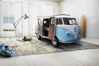 Si ispira ad un VW Van: ecco il letto che ogni bambino sogna