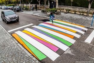Madrid, le strisce pedonali come gallerie d'arte a cielo aperto