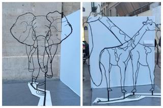 Questa scultura cambia a seconda del punto di vista: quando l'Arte è metamorfica