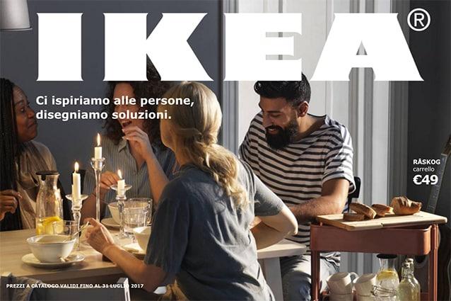 Copertina del catalogo Ikea 2017: cosmopoliti, felici, sazi