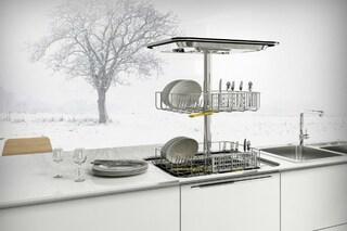 L'idea salva-spazio: arriva la lavastoviglie verticale