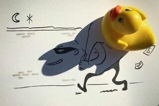 Le ombre degli oggetti diventano allegri disegni: l'arte di Vincent Bal