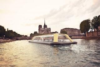 Parigi, il battello diventa una palestra galleggiante sulla Senna