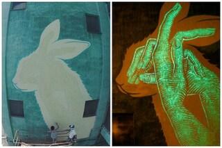 Questi murales appaiono solo di notte: ecco la street art fotoluminescente