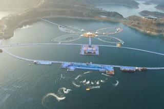 """Anche la Cina ha il suo """"The Floating Piers"""": è due volte la lunghezza di Manhattan"""