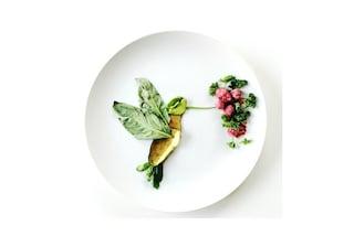 Opere d'arte a tavola con gli scarti alimentari: ecco i dipinti culinari di Lauren Purnell