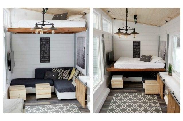 La casa dei sogni basta premere un pulsante ed il letto for Soluzioni di arredamento per case piccole