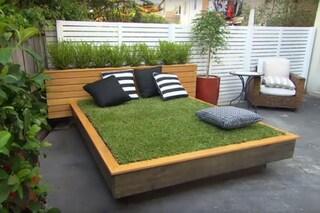 Come creare un letto di erba con i pallet