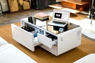 Sobro: il tavolino intelligente che raffredda le bevande e ricarica lo smartphone