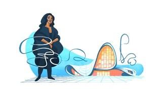 Google celebra Zaha Hadid: un doodle per ricordare la prima donna vincitrice del Pritzker