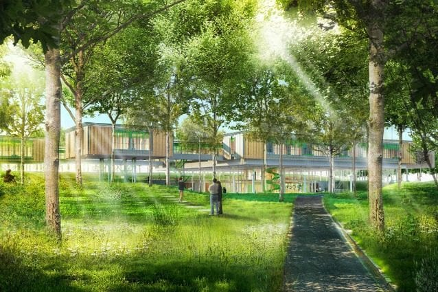 Children's hospice – Bologna, Italy © RPBW, render by Cristiano Zaccaria