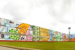 Mosca, ecco il murale più grande del mondo