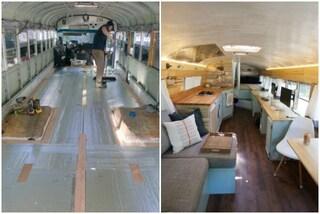 Da vecchio scuolabus a casa mobile: come creare un'abitazione fai-da-te