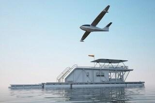 HH: la prima casa galleggiante che è anche un molo per barche e un garage per idrovolanti