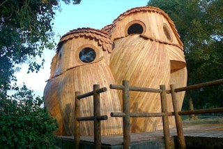Francia, come dormire gratis in queste cabine a forma di gufo