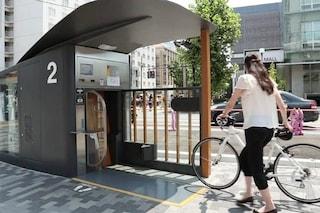 ECO cycle: a Tokyo il parcheggio per le bici è verticale