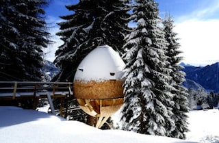 Pigna, la prima casa sull'albero a forma di uovo
