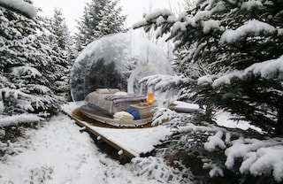 The Bubble, camera con vista sulla neve